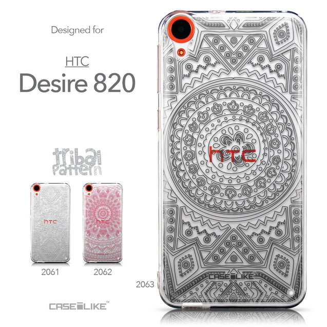 Collection - CASEiLIKE HTC Desire 820 back cover Indian Line Art 2063