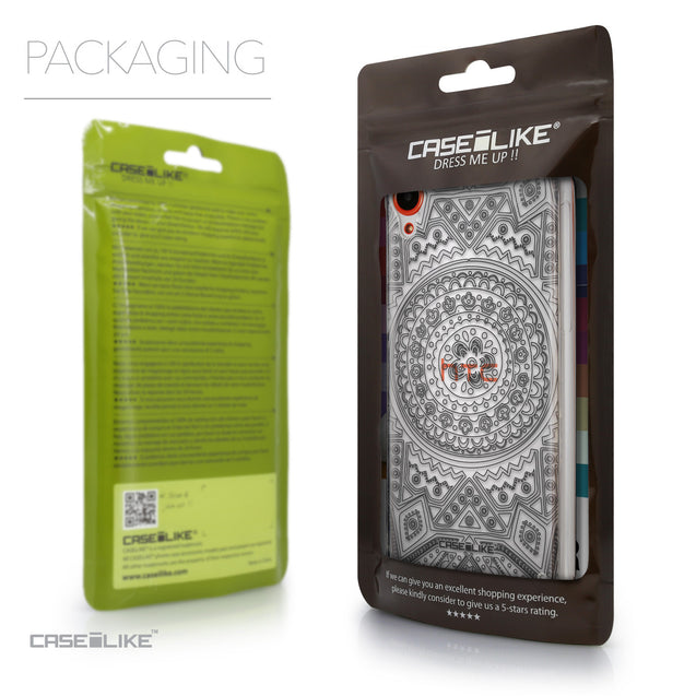 Packaging - CASEiLIKE HTC Desire 820 back cover Indian Line Art 2063