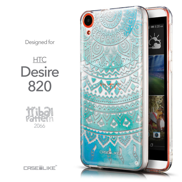 Front & Side View - CASEiLIKE HTC Desire 820 back cover Indian Line Art 2066