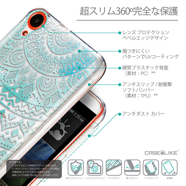 Details in Japanese - CASEiLIKE HTC Desire 820 back cover Indian Line Art 2066