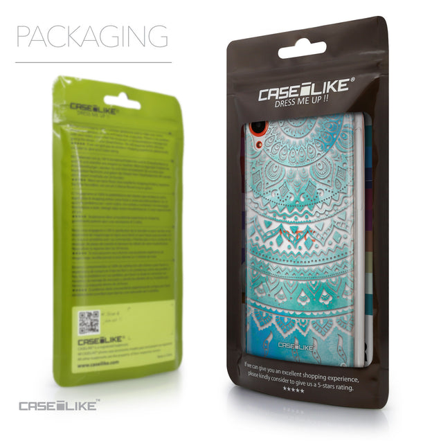 Packaging - CASEiLIKE HTC Desire 820 back cover Indian Line Art 2066