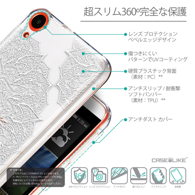 Details in Japanese - CASEiLIKE HTC Desire 820 back cover Mandala Art 2091
