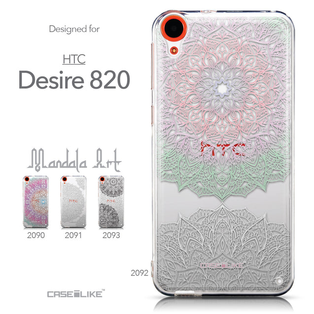 Collection - CASEiLIKE HTC Desire 820 back cover Mandala Art 2092