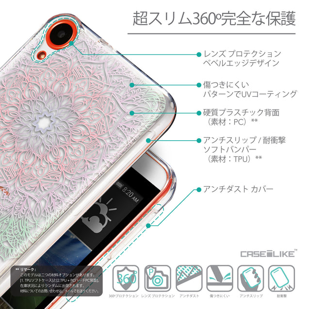 Details in Japanese - CASEiLIKE HTC Desire 820 back cover Mandala Art 2092
