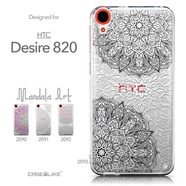 Collection - CASEiLIKE HTC Desire 820 back cover Mandala Art 2093