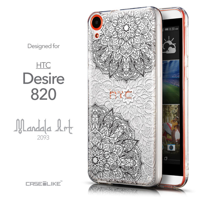 Front & Side View - CASEiLIKE HTC Desire 820 back cover Mandala Art 2093