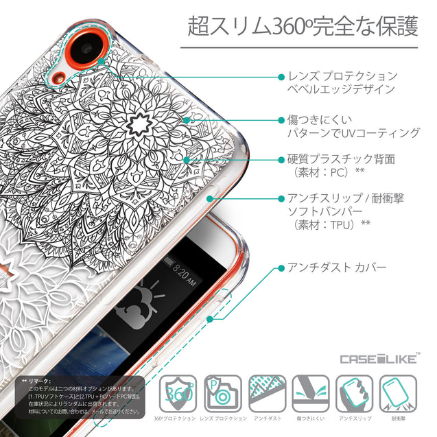 Details in Japanese - CASEiLIKE HTC Desire 820 back cover Mandala Art 2093