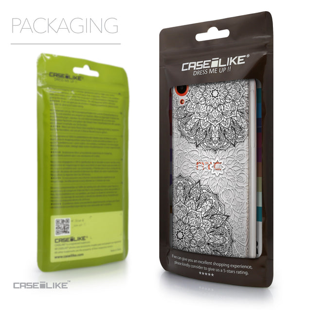 Packaging - CASEiLIKE HTC Desire 820 back cover Mandala Art 2093