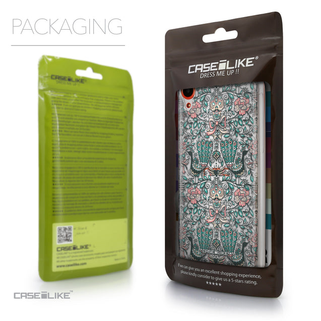 Packaging - CASEiLIKE HTC Desire 820 back cover Roses Ornamental Skulls Peacocks 2226