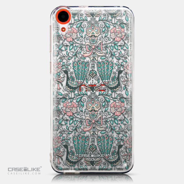 CASEiLIKE HTC Desire 820 back cover Roses Ornamental Skulls Peacocks 2226