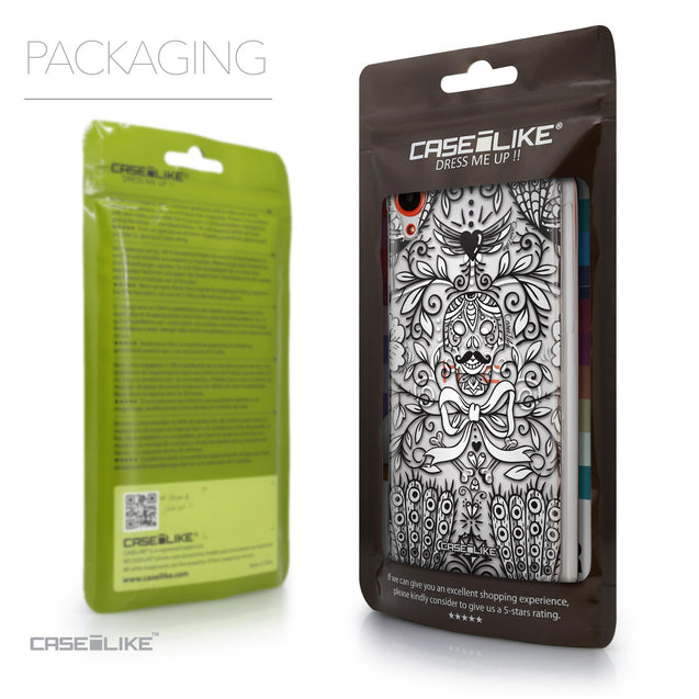 Packaging - CASEiLIKE HTC Desire 820 back cover Roses Ornamental Skulls Peacocks 2227