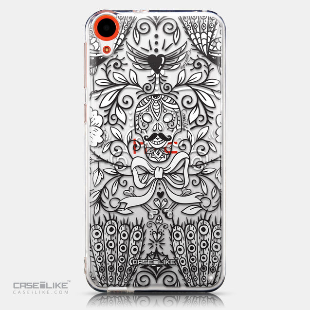 CASEiLIKE HTC Desire 820 back cover Roses Ornamental Skulls Peacocks 2227