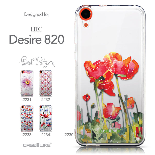Collection - CASEiLIKE HTC Desire 820 back cover Watercolor Floral 2230