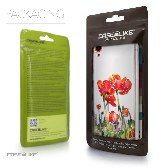 Packaging - CASEiLIKE HTC Desire 820 back cover Watercolor Floral 2230