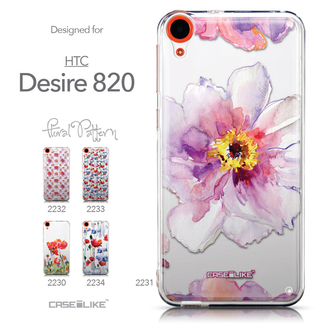 Collection - CASEiLIKE HTC Desire 820 back cover Watercolor Floral 2231
