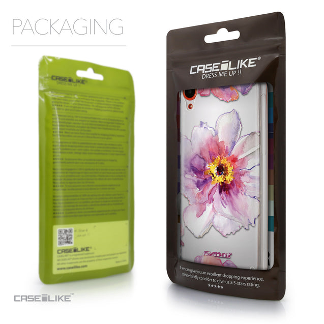Packaging - CASEiLIKE HTC Desire 820 back cover Watercolor Floral 2231
