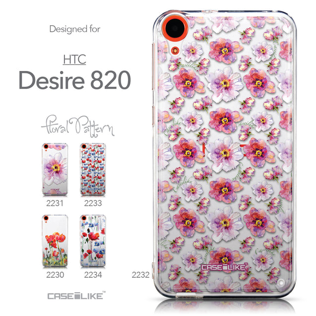 Collection - CASEiLIKE HTC Desire 820 back cover Watercolor Floral 2232