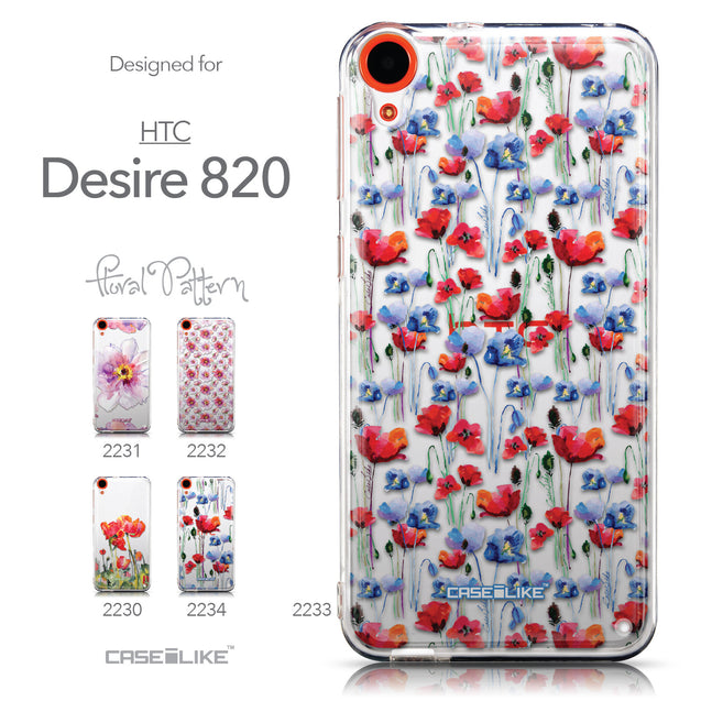 Collection - CASEiLIKE HTC Desire 820 back cover Watercolor Floral 2233
