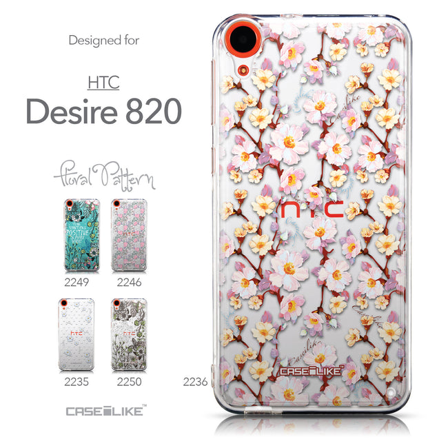 Collection - CASEiLIKE HTC Desire 820 back cover Watercolor Floral 2236