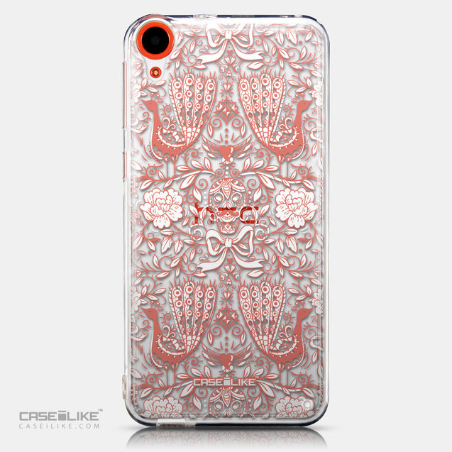 CASEiLIKE HTC Desire 820 back cover Roses Ornamental Skulls Peacocks 2237