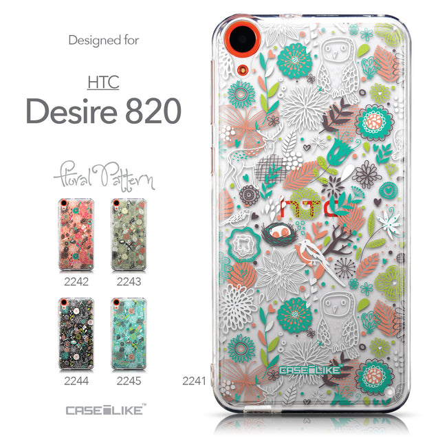 Collection - CASEiLIKE HTC Desire 820 back cover Spring Forest White 2241