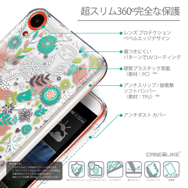Details in Japanese - CASEiLIKE HTC Desire 820 back cover Spring Forest White 2241