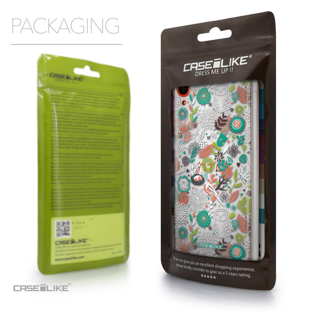 Packaging - CASEiLIKE HTC Desire 820 back cover Spring Forest White 2241