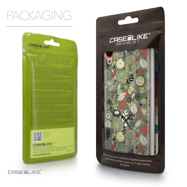 Packaging - CASEiLIKE HTC Desire 820 back cover Spring Forest Gray 2243