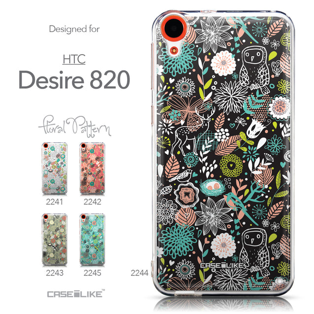 Collection - CASEiLIKE HTC Desire 820 back cover Spring Forest Black 2244