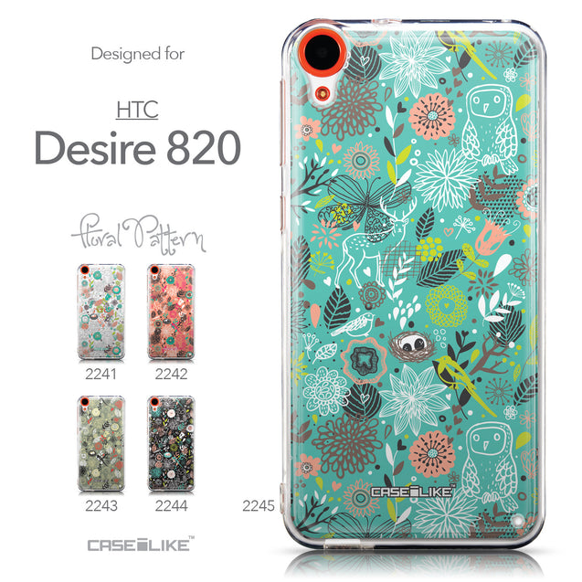 Collection - CASEiLIKE HTC Desire 820 back cover Spring Forest Turquoise 2245