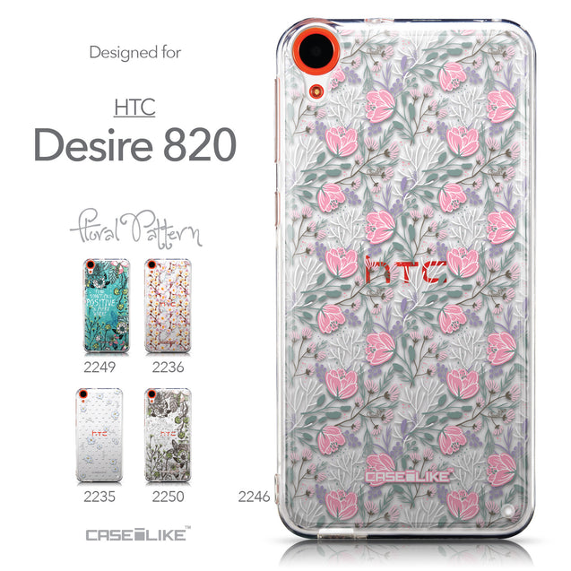 Collection - CASEiLIKE HTC Desire 820 back cover Flowers Herbs 2246