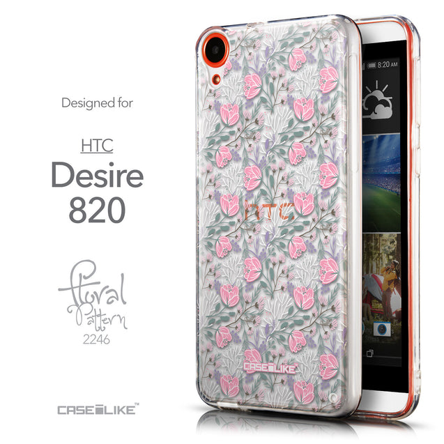 Front & Side View - CASEiLIKE HTC Desire 820 back cover Flowers Herbs 2246