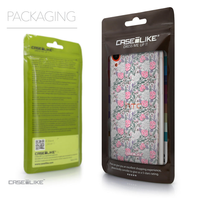 Packaging - CASEiLIKE HTC Desire 820 back cover Flowers Herbs 2246