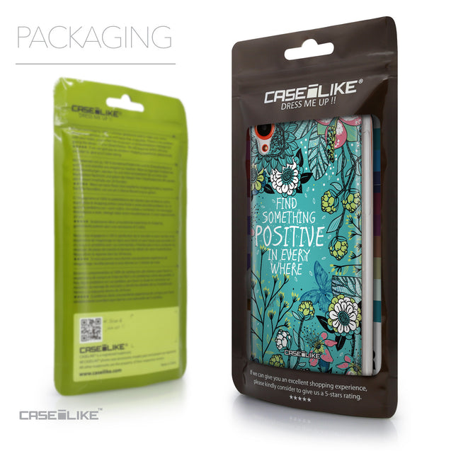 Packaging - CASEiLIKE HTC Desire 820 back cover Blooming Flowers Turquoise 2249