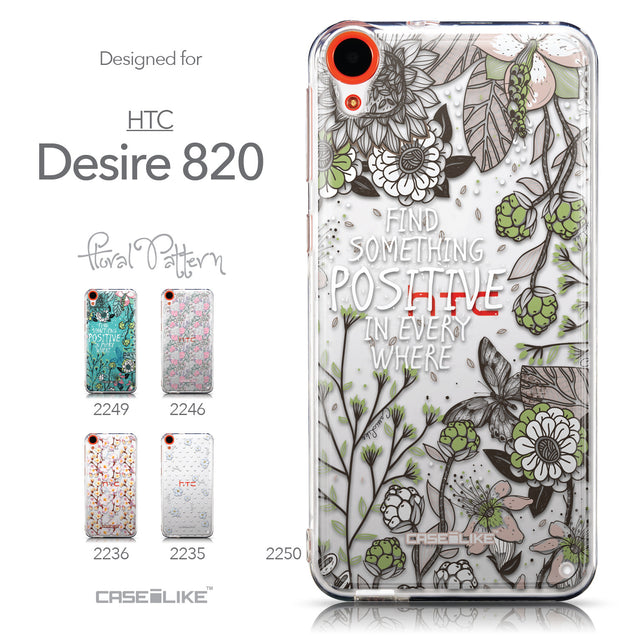 Collection - CASEiLIKE HTC Desire 820 back cover Blooming Flowers 2250