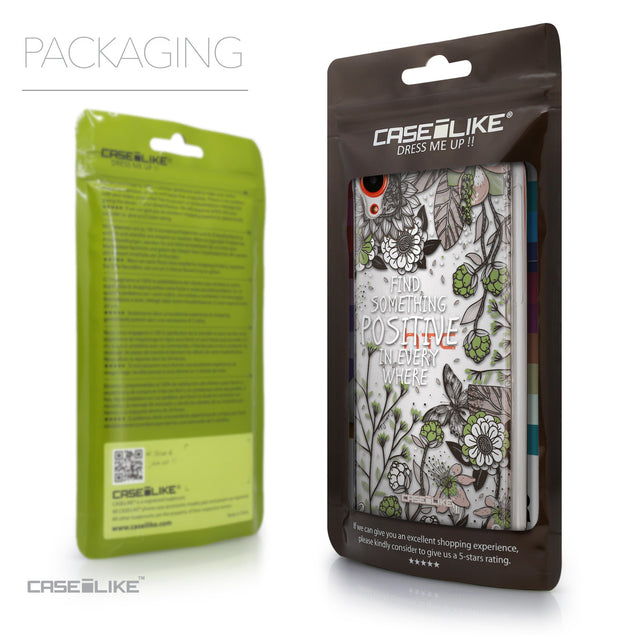 Packaging - CASEiLIKE HTC Desire 820 back cover Blooming Flowers 2250