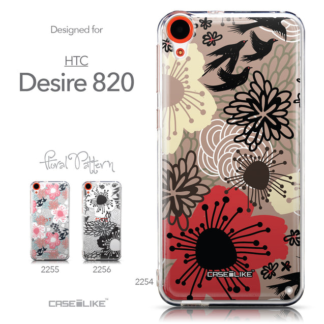 Collection - CASEiLIKE HTC Desire 820 back cover Japanese Floral 2254