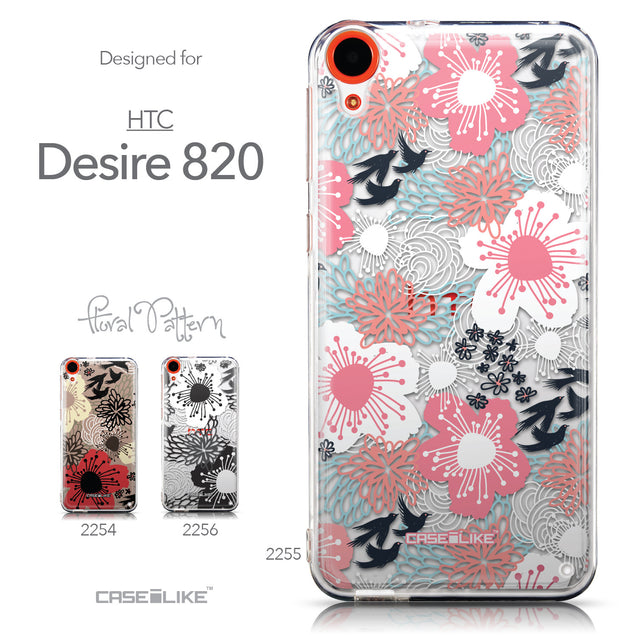 Collection - CASEiLIKE HTC Desire 820 back cover Japanese Floral 2255