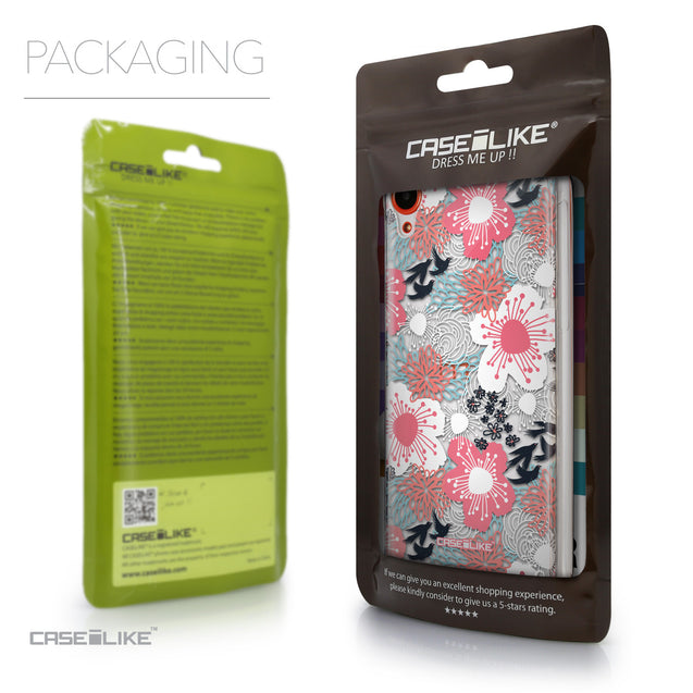 Packaging - CASEiLIKE HTC Desire 820 back cover Japanese Floral 2255