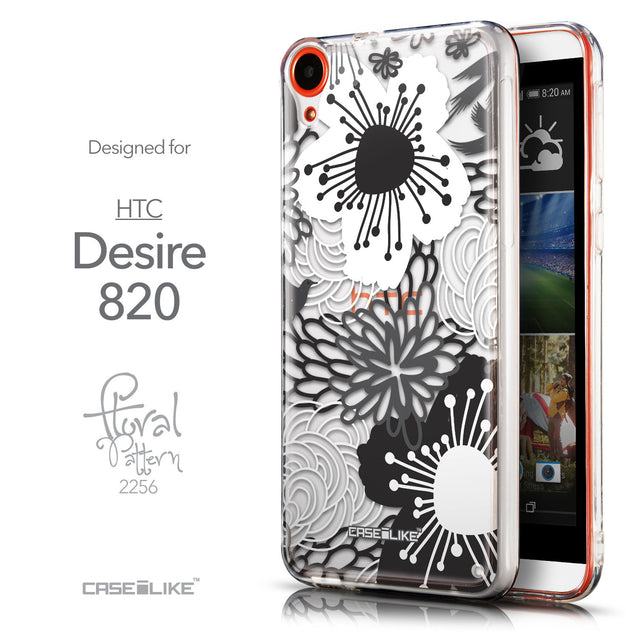 Front & Side View - CASEiLIKE HTC Desire 820 back cover Japanese Floral 2256