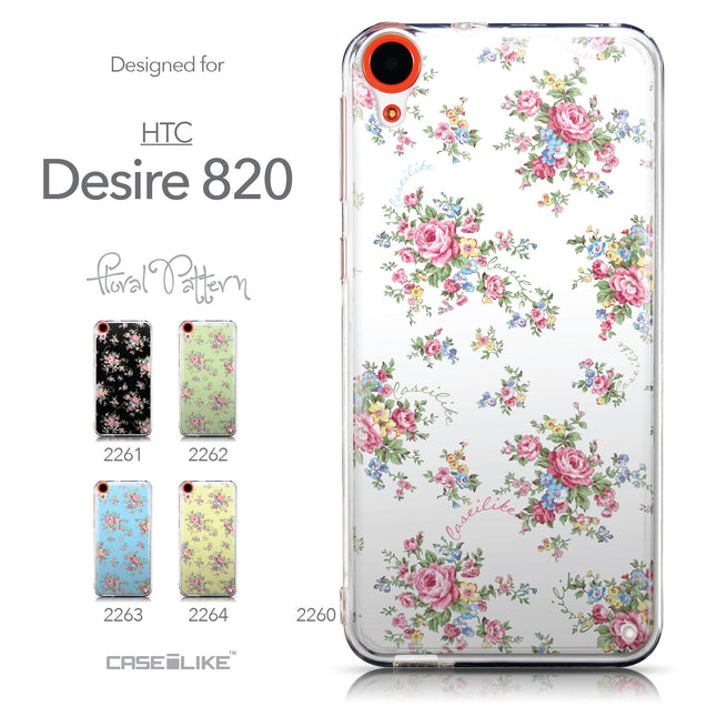 Collection - CASEiLIKE HTC Desire 820 back cover Floral Rose Classic 2260