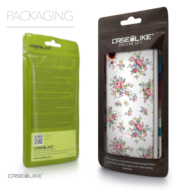 Packaging - CASEiLIKE HTC Desire 820 back cover Floral Rose Classic 2260