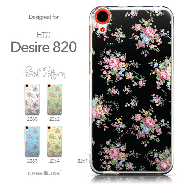 Collection - CASEiLIKE HTC Desire 820 back cover Floral Rose Classic 2261