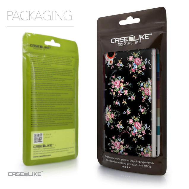 Packaging - CASEiLIKE HTC Desire 820 back cover Floral Rose Classic 2261