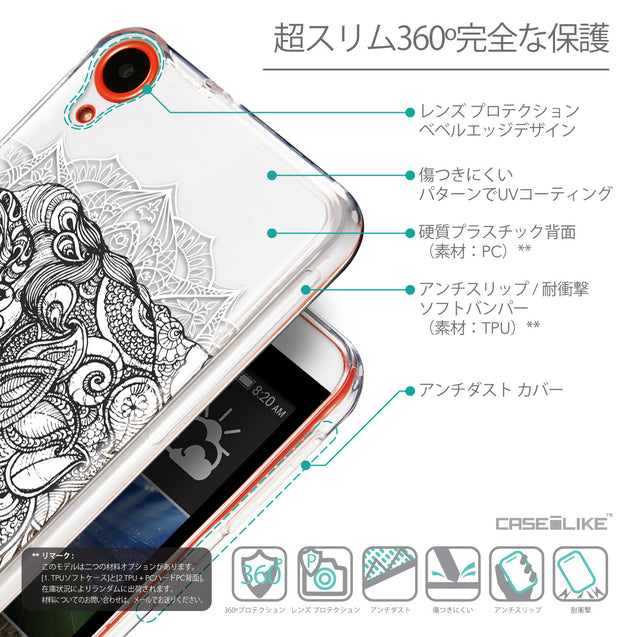 Details in Japanese - CASEiLIKE HTC Desire 820 back cover Mandala Art 2300
