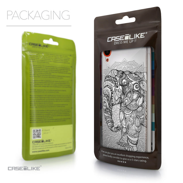 Packaging - CASEiLIKE HTC Desire 820 back cover Mandala Art 2300