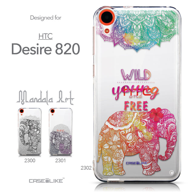 Collection - CASEiLIKE HTC Desire 820 back cover Mandala Art 2302
