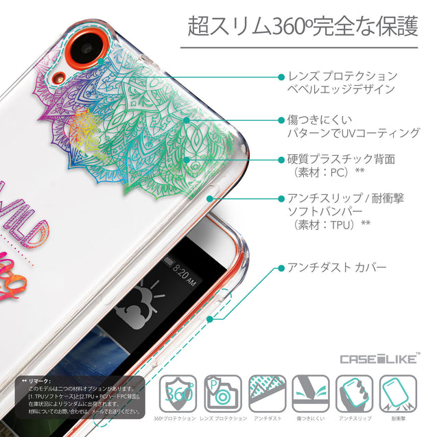 Details in Japanese - CASEiLIKE HTC Desire 820 back cover Mandala Art 2302