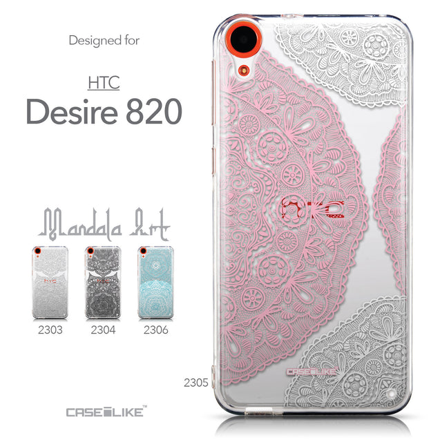 Collection - CASEiLIKE HTC Desire 820 back cover Mandala Art 2305