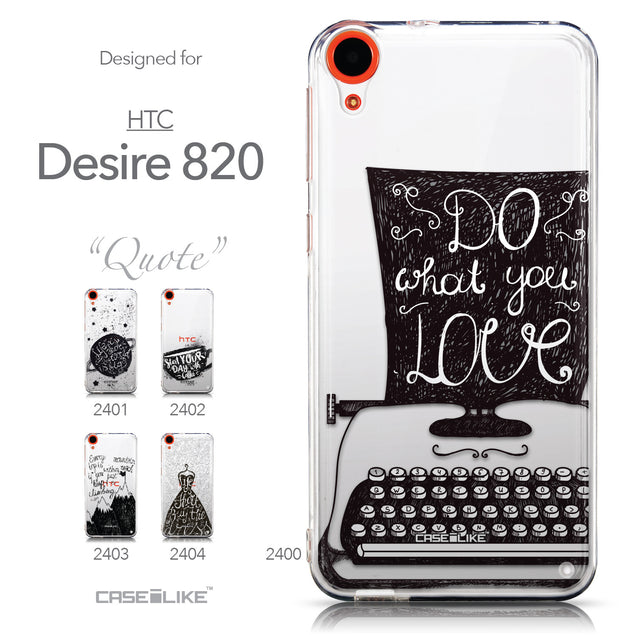 Collection - CASEiLIKE HTC Desire 820 back cover Quote 2400
